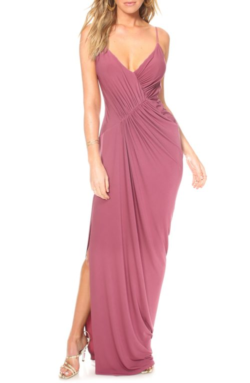 Katie May Ruched Drape Evening Dress
