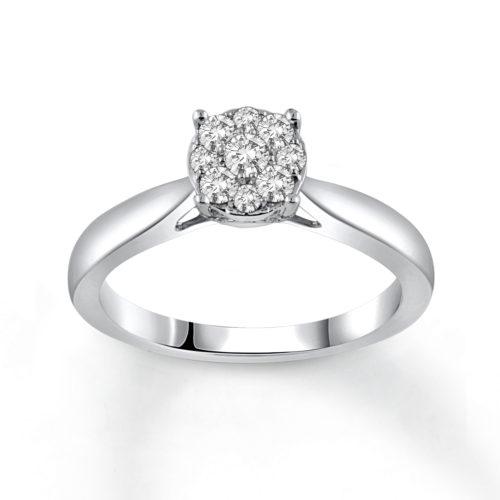 1/3 Carat Round Cut Diamond Ring