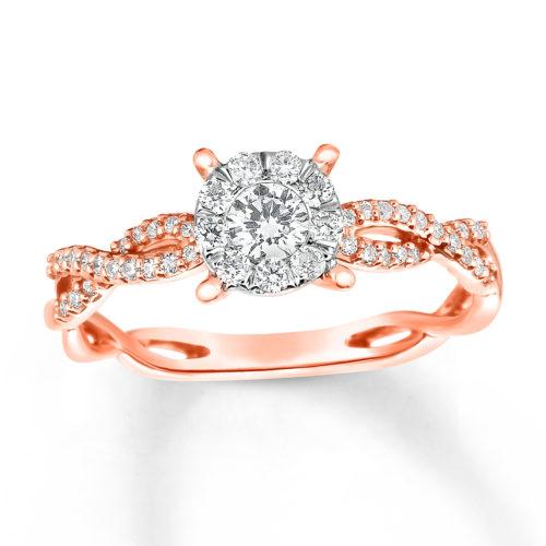 10-Karat Gold and Diamond Ring