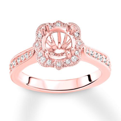 1/3 Carat Diamond and Rose Gold Band