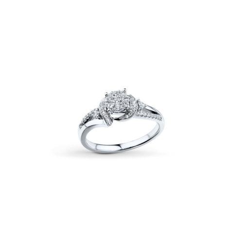 Round-Cut Diamond Ring