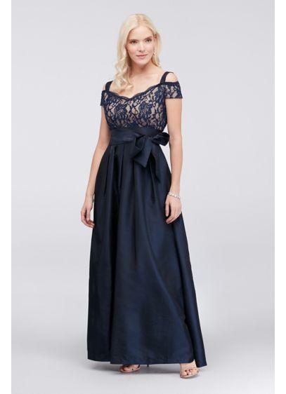 Pleated Taffeta Dress