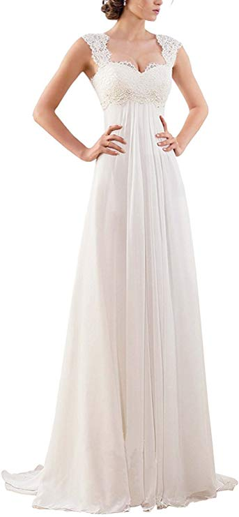 Abao Wedding Sleeveless Lace Chiffon Dress