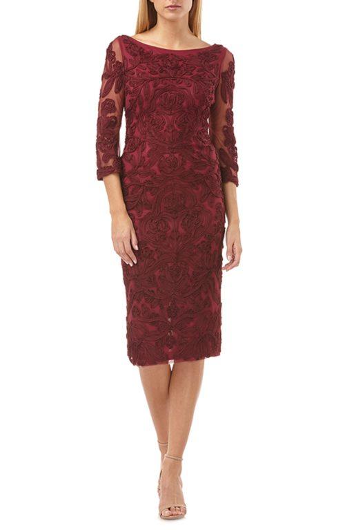 JS Collection Soutache Chiffon Sheath Dress