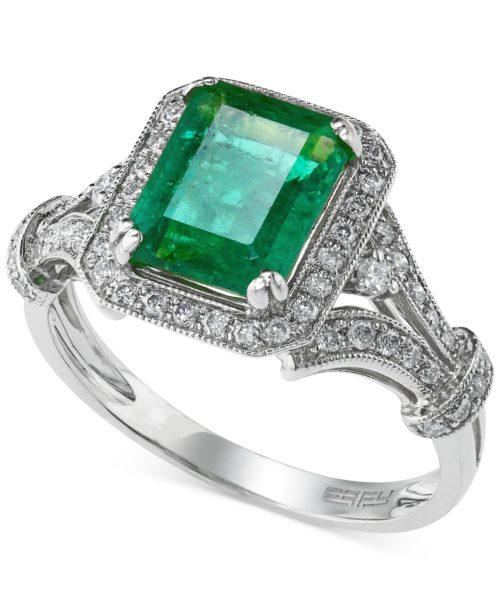 EFFY Brasilica Collection Emerald and Diamond Ring