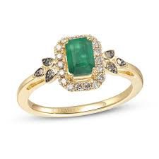 Le Vian Emerald and Diamond Ring