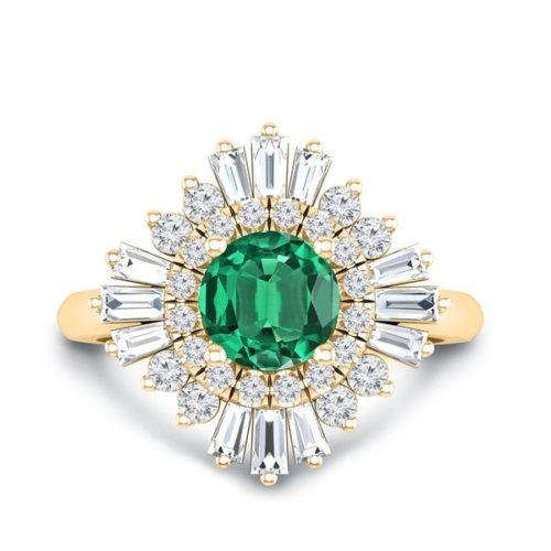 Auriya Ballerina Style Halo Ring