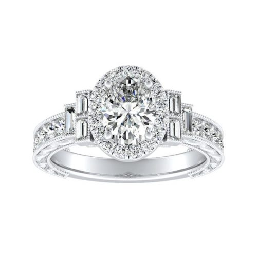Auriya Vintage Art Deco Diamond Engagement Ring