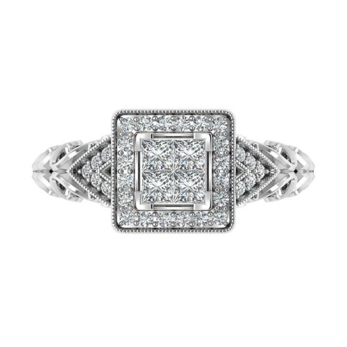 Multi-Diamond Engagement Ring