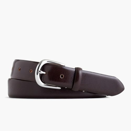 J. Crew Leather Round-Buckle Dress Belt