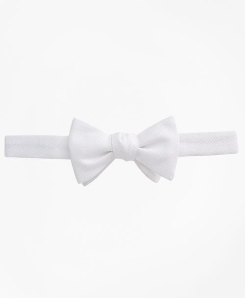 Brooks Brothers White Pique Pre-Tied Bow Tie