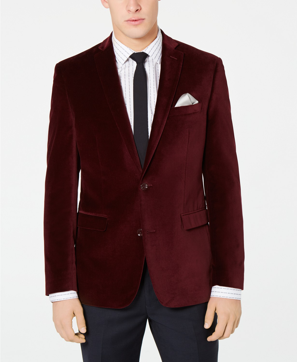 Bar III Velvet Slim Fit Sport Coat