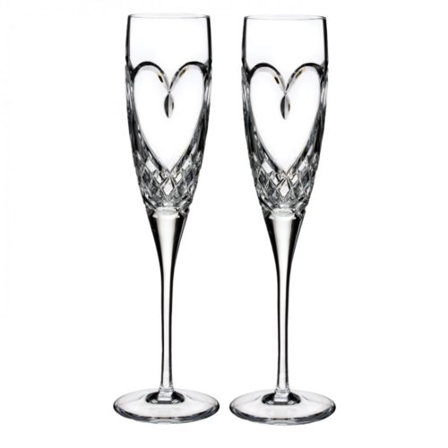 Waterford True Love Champagne Flute Set