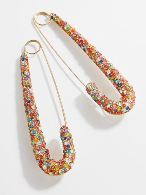 Montserrat Pavé Safety Pin Earrings