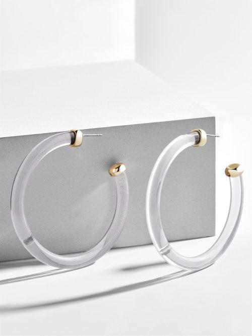 Leia Resin Hoop Earrings