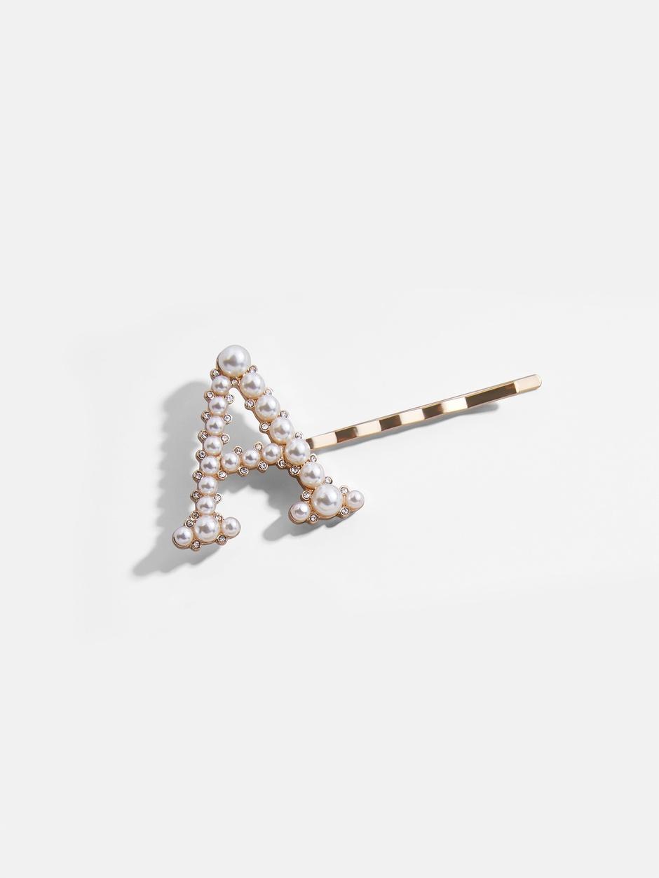 Baroque Initial Pearl Hair Pin