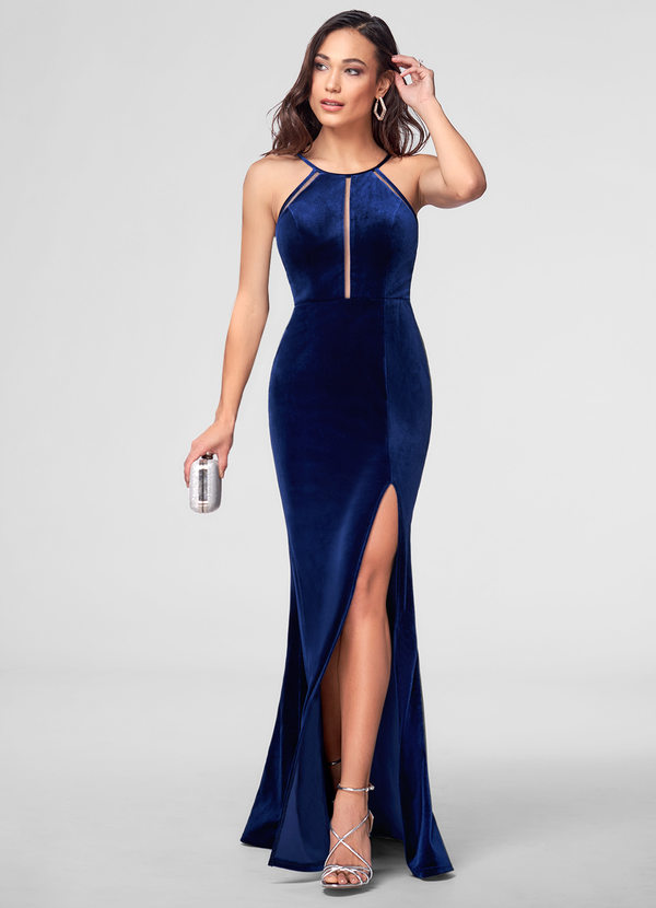 A La Mode Velvet Maxi Dress