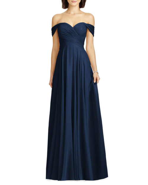 Dessy Collection Lux Chiffon Gown