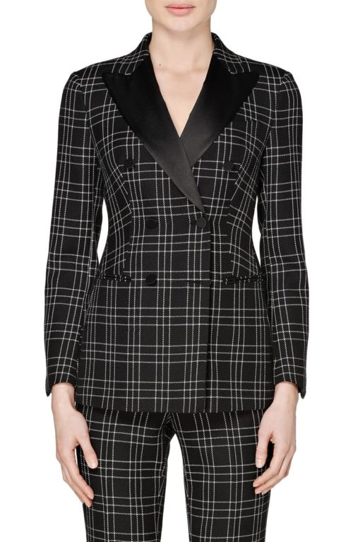 Suitstudio Cameron Double Breasted Check Wool Suit
