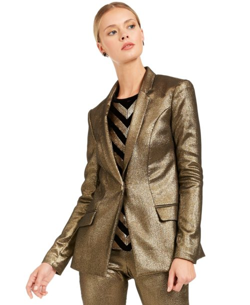 INC International Metallic Blazer