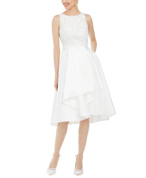 Adrianna Papell Sequin Mikado Dress