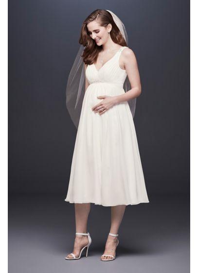 Tea Length Chiffon Maternity Dress