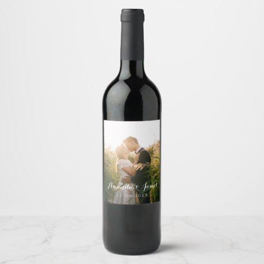 Photo Wine Bottle Label