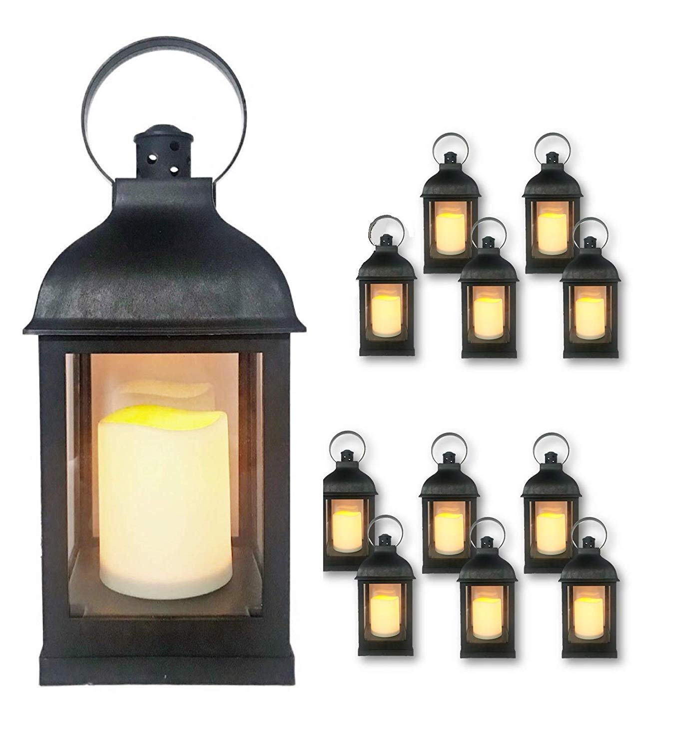 Decorative Lanterns with Flameless LED Candles