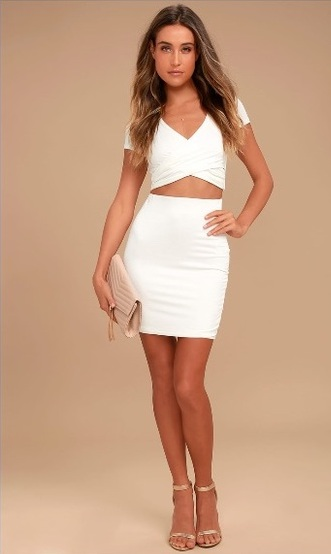 By Your Side Ivory Two Piece Dress