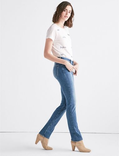 Lucky Brand Women's Mid Rise Sweet Straight Jean