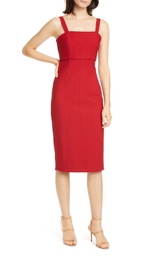 CINQ À SEPT Dakota Back Cutout Body-Con Midi Dress