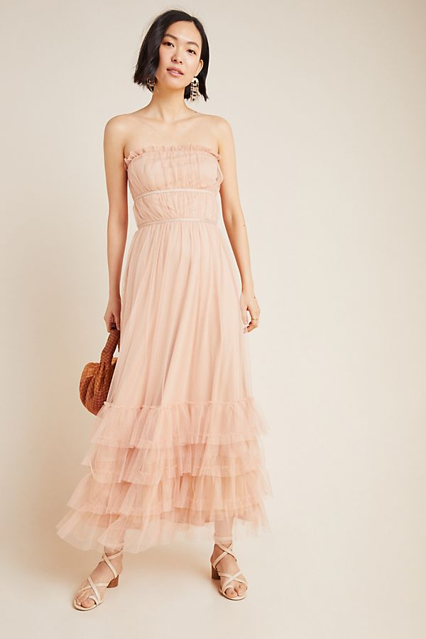 Graciela Tiered Tulle Maxi Dress