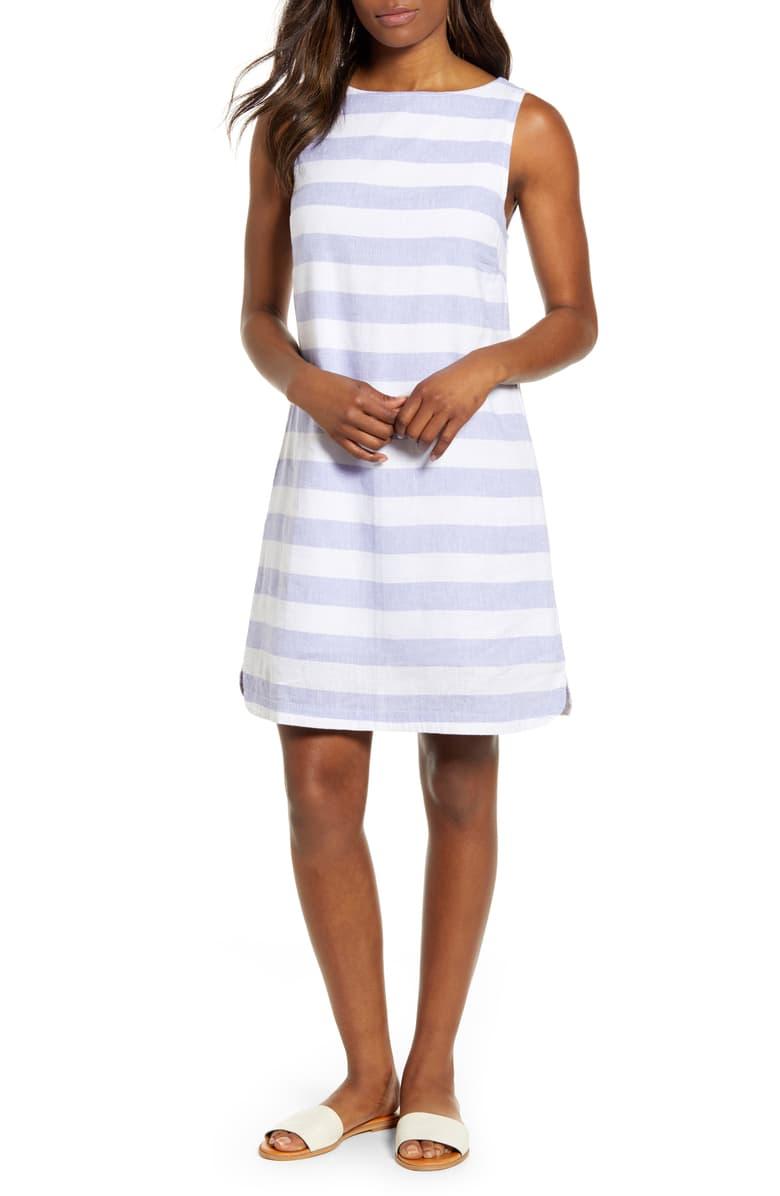 Alina Stripe Linen Shift