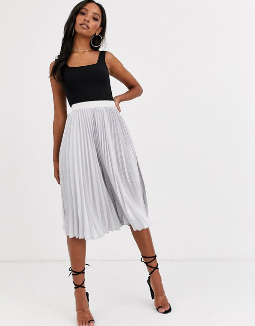 Outrageous Fortune Pleated Skirt With Contrast Waistband