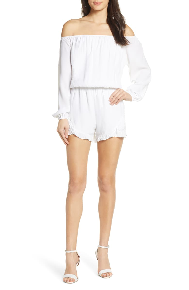 Fraiche By J Off-the-Shoulder Romper