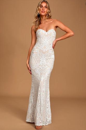 Best Strapless Mermaid Wedding Dress