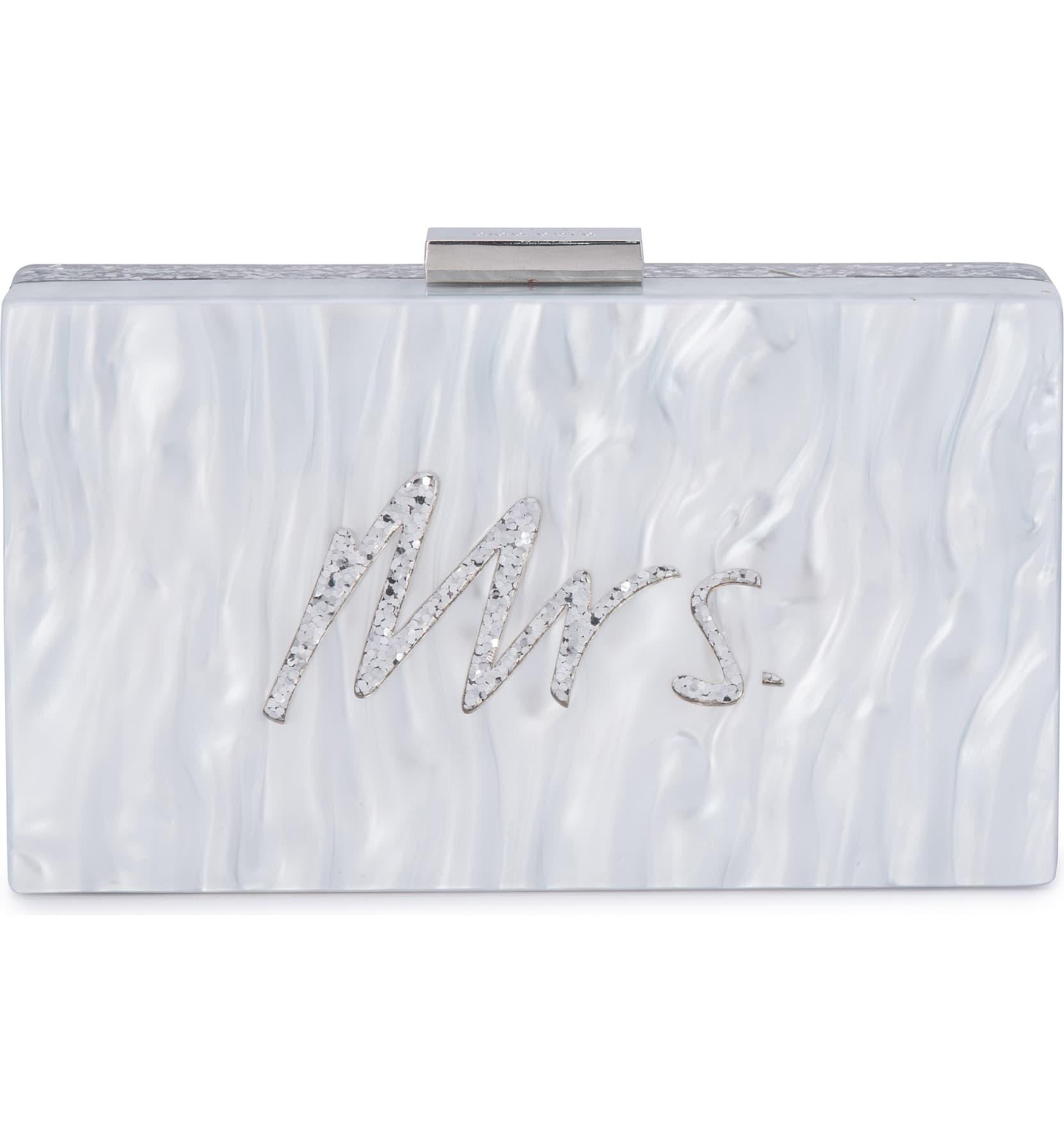 Olga Berg Mrs. Glitter Acrylic Pod Bag