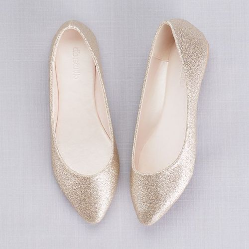 Allover Glitter Pointed Toe Flats