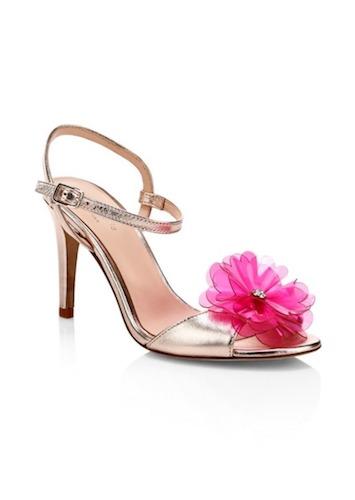Kate Spade New York Giulia Flower Metallic Stiletto Sandals