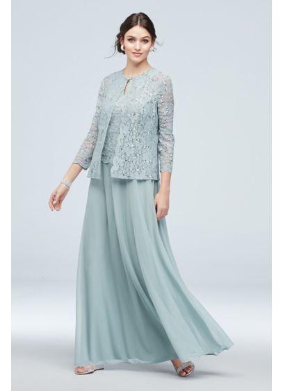 Three-Piece Chiffon Skirt and Lace Sweater Set