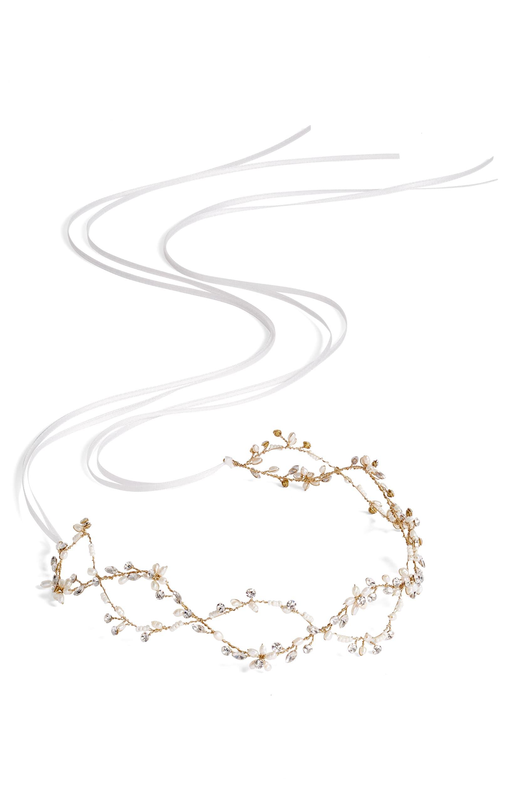 Brides & Hairpins Octavia Pearl Jeweled Halo