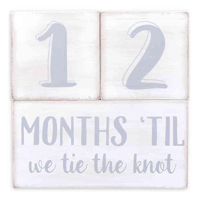 Wedding Countdown Cubes