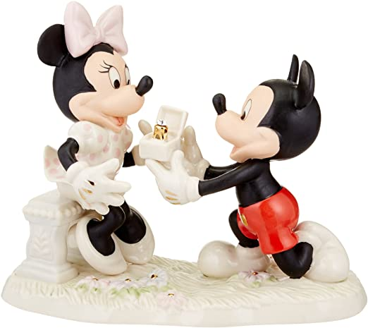 Lenox Mickey and Minnie Proposal Sculpture