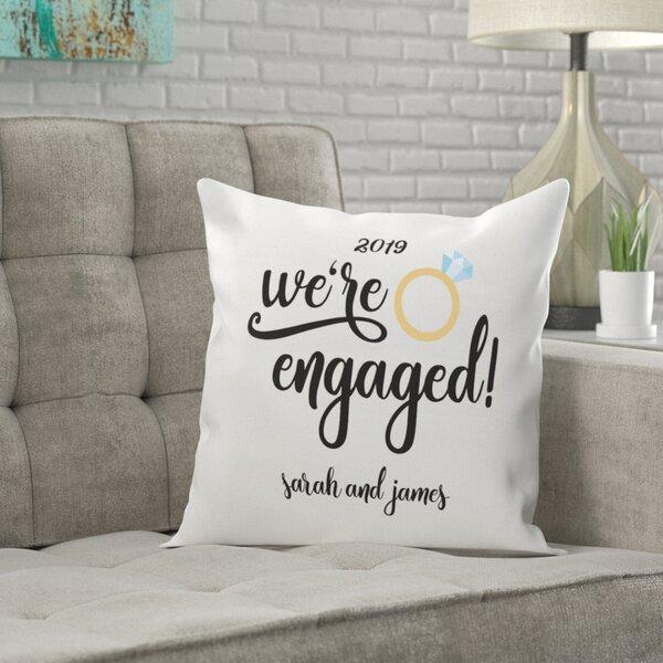Engaged Throw Pillow