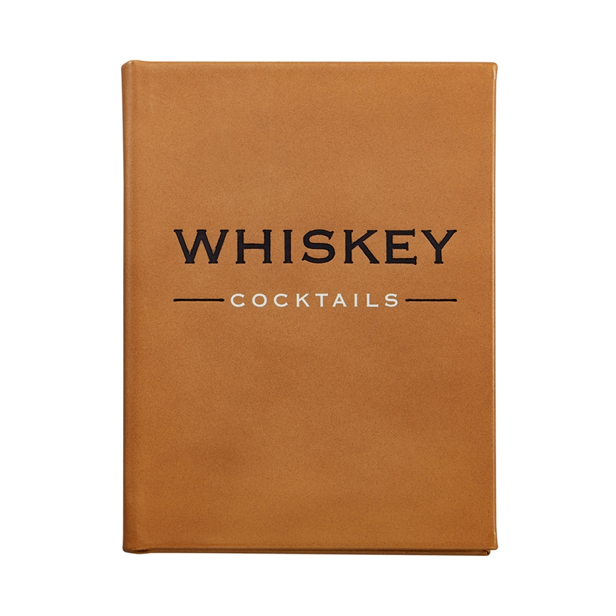 Whiskey Cocktails Leather Bound Book