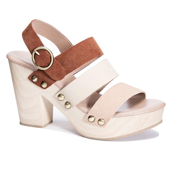 Flower Heeled Sandal