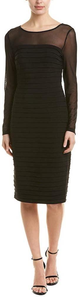 Adrianna Papell Matte Jersey Pintucked Dress