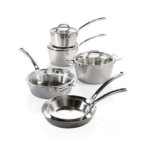Viking Contemporary Stainless Steel 10-Piece Cookware Set