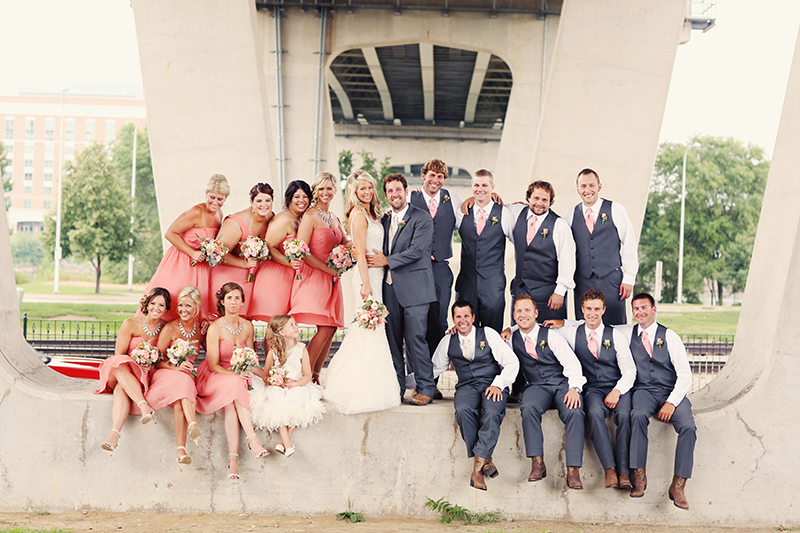 Tricia & Jason's Sweet Peoria, IL Real Wedding by Schilling Photography