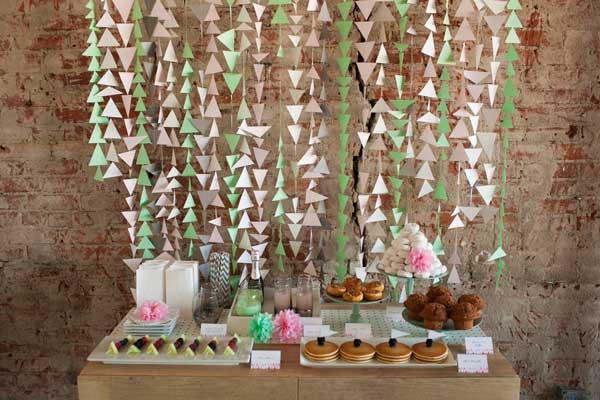 DIY Geometric Wedding Backdrop